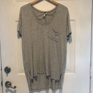 Free people amazingly soft flowy tee or tunic gray